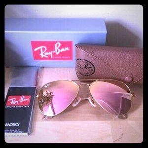 RayBan Aviator Copper Pink Flash 3025 Sunglasses